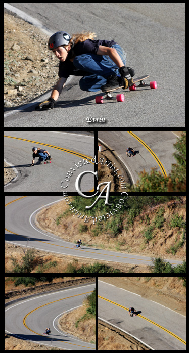 Down Hill Skate boarding